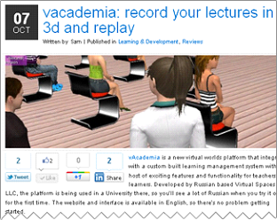 vAcademia: Record your lectures in 3D and replay